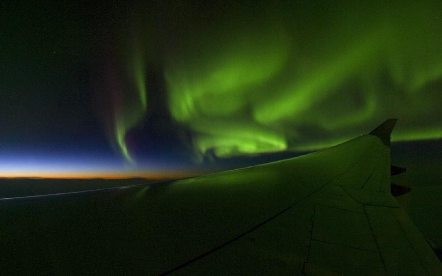 Polarlicht-Flug